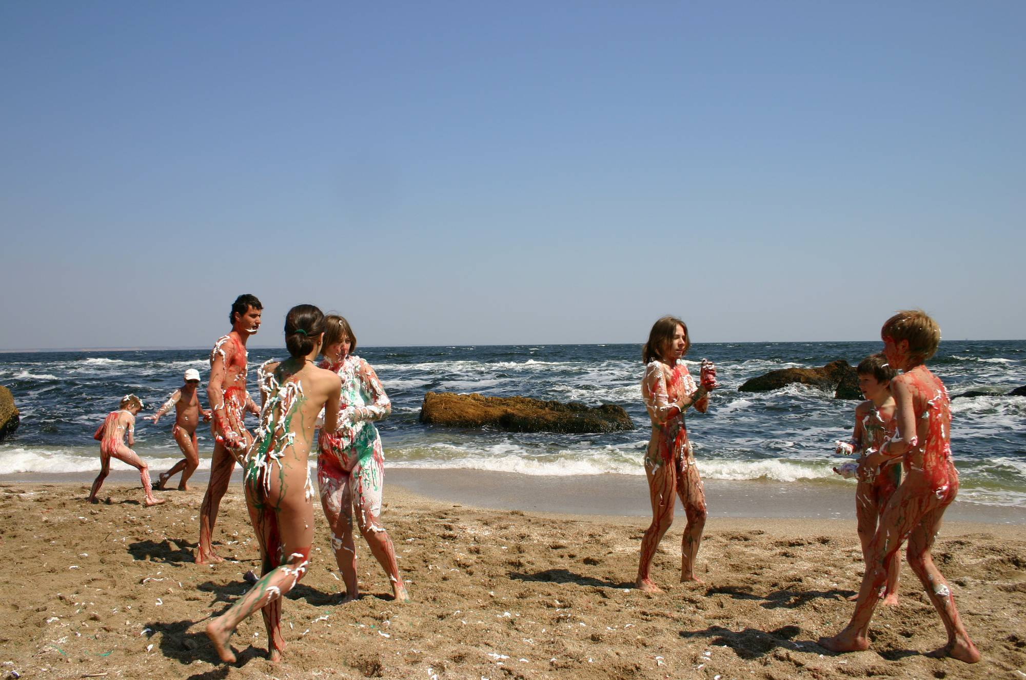 Beach Paint Fight Actions - 1