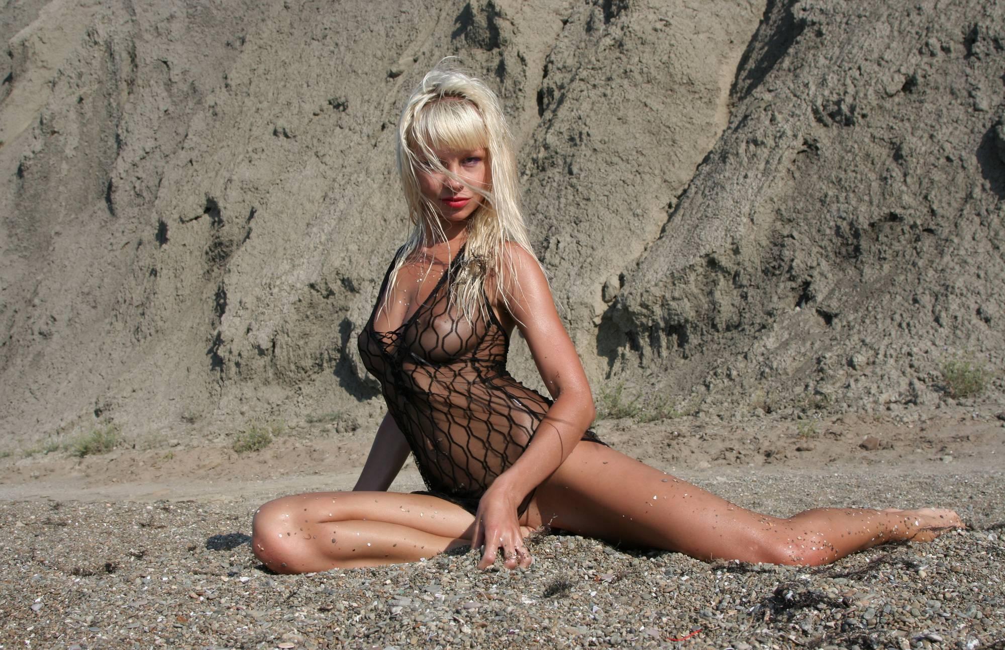 Blonde Nude on the Beach - 2