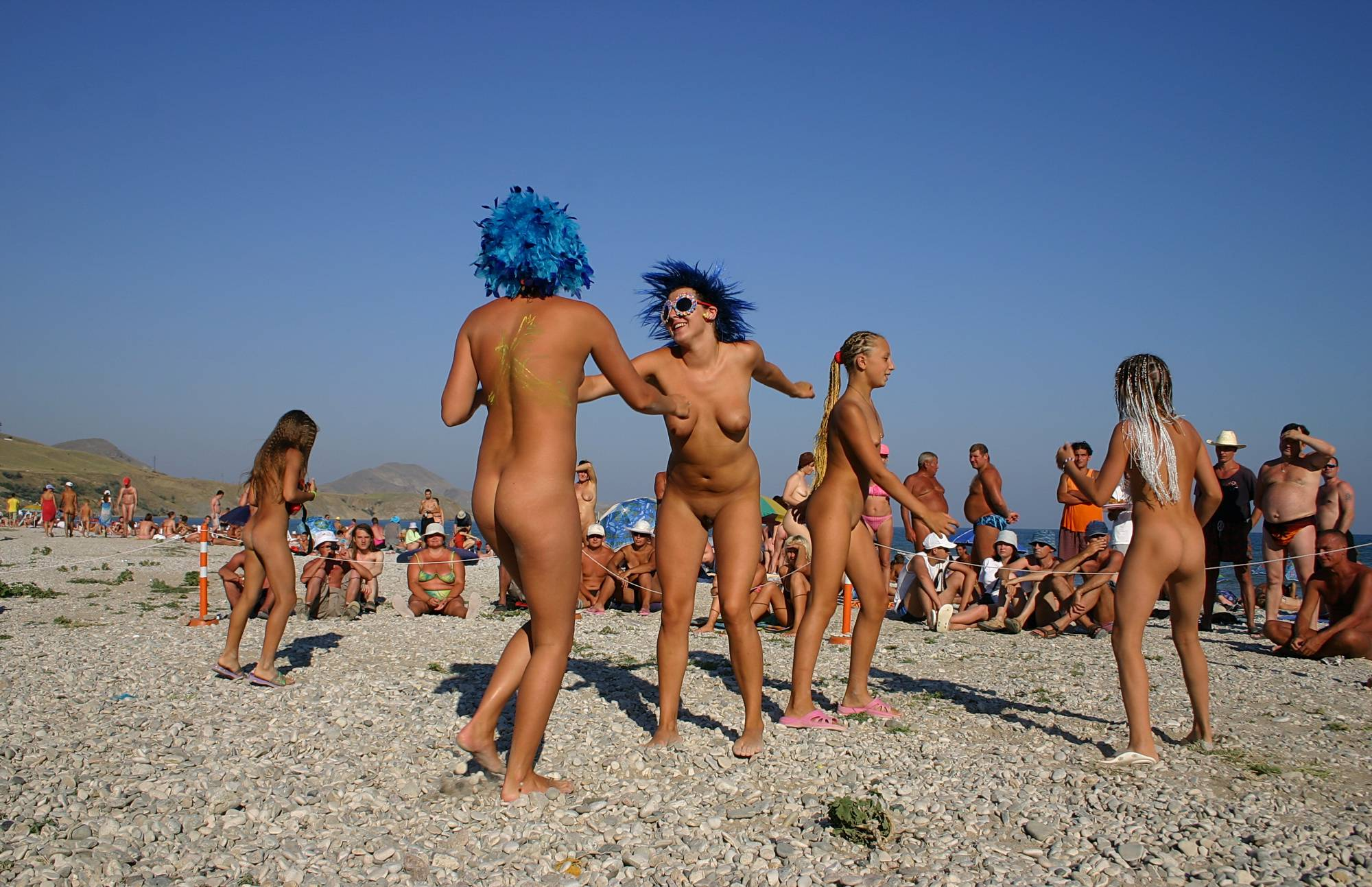 Nudist Gallery Blue Haired Sand Dance - 1