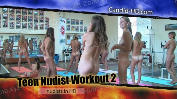 Video still of Teen Nudist Workout 2