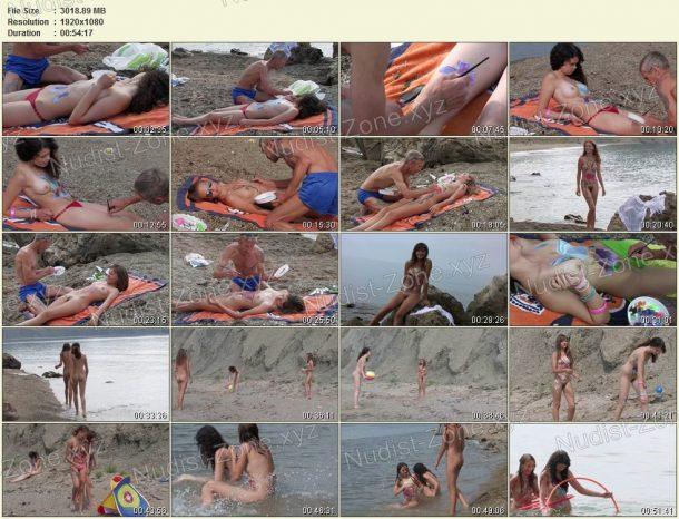 Body Art Nudist Beach. Part 1 frames 1