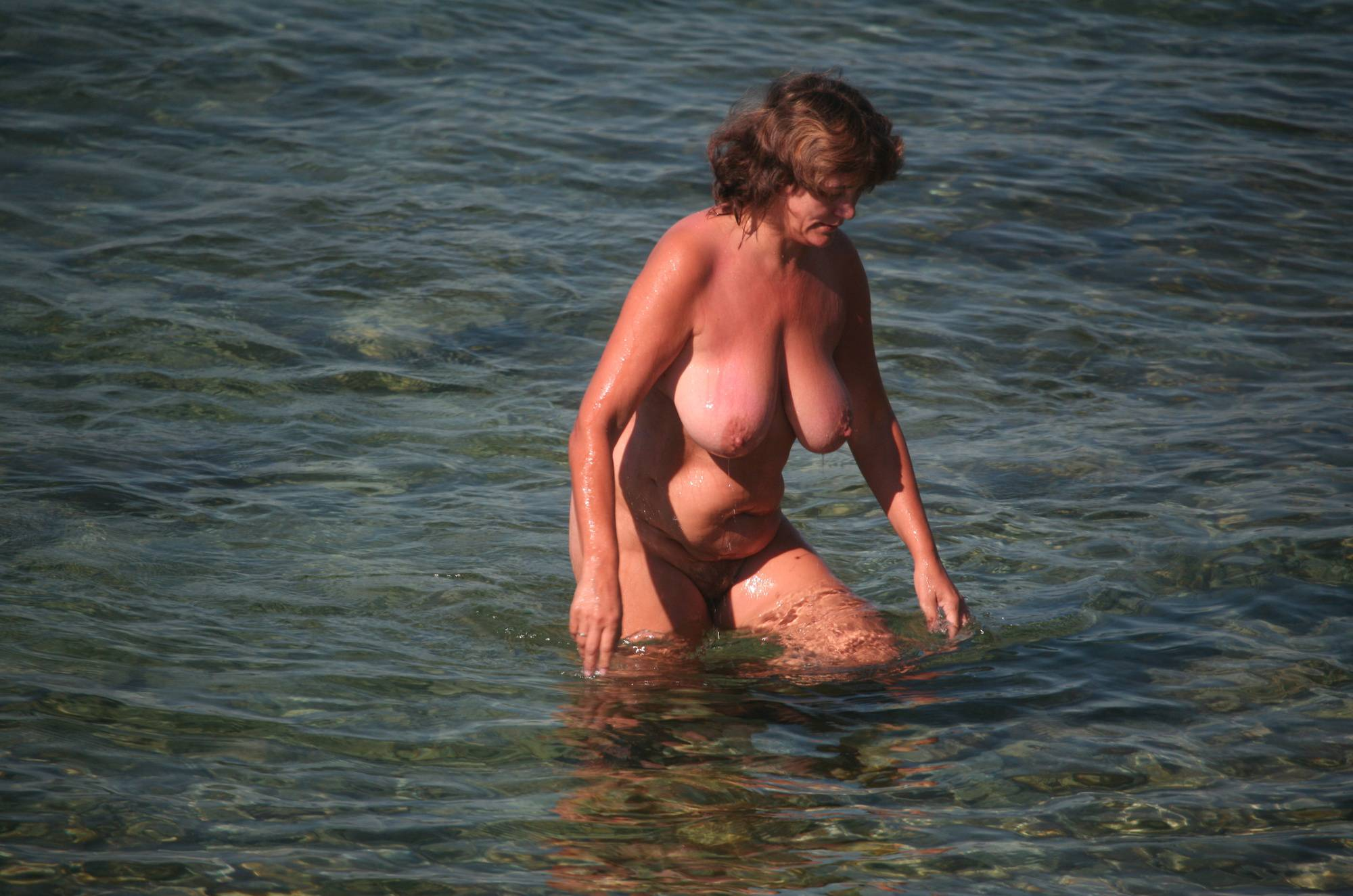 Nudist Photos Crete Dog-Bathing Woman - 2