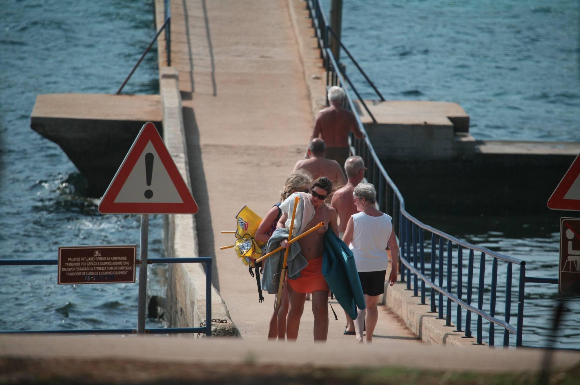 Nudist Photos Crete FKK Bridge Crossing - 1