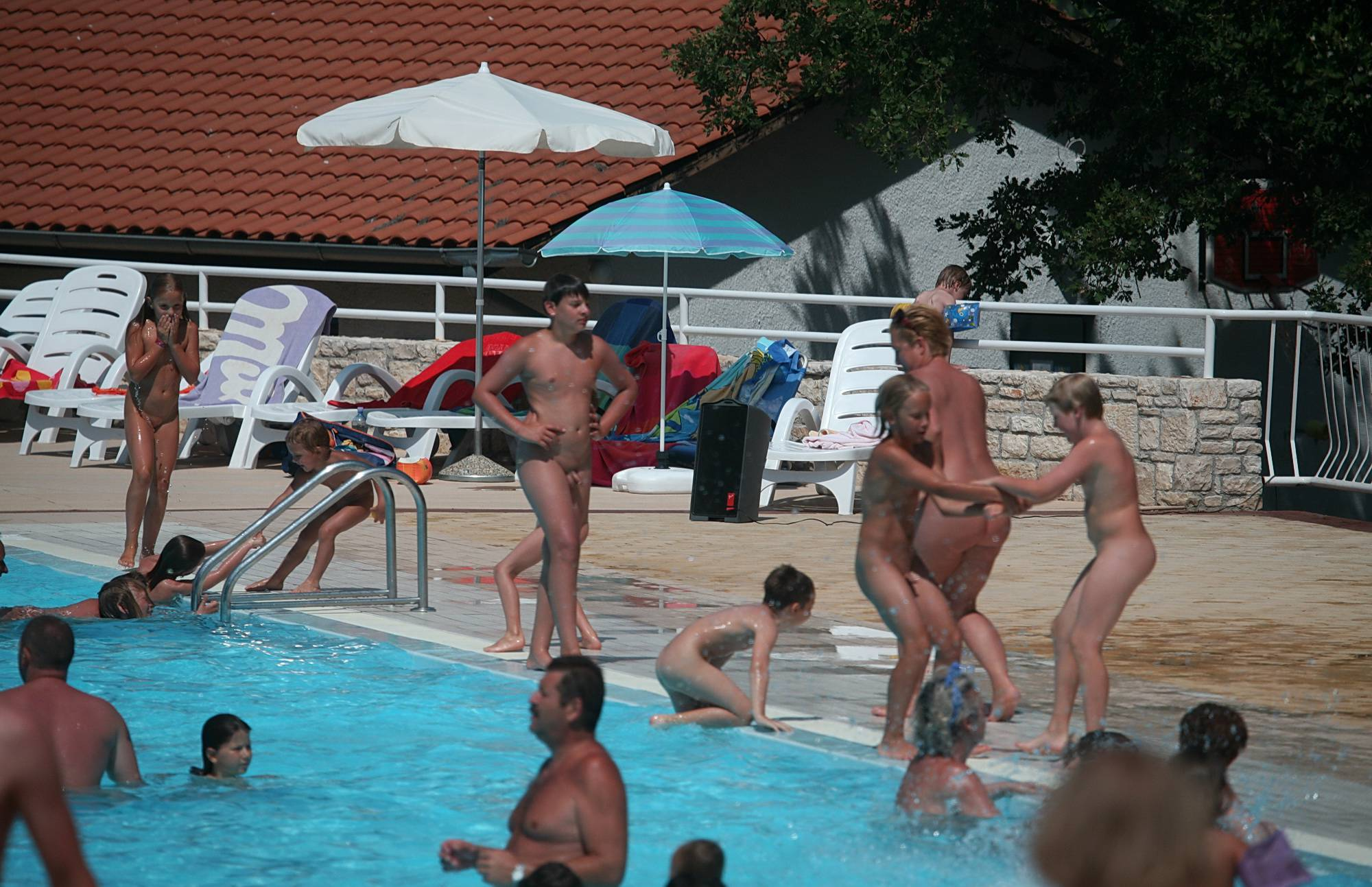 Nudist Gallery Drag and Drop in the Pool - 2