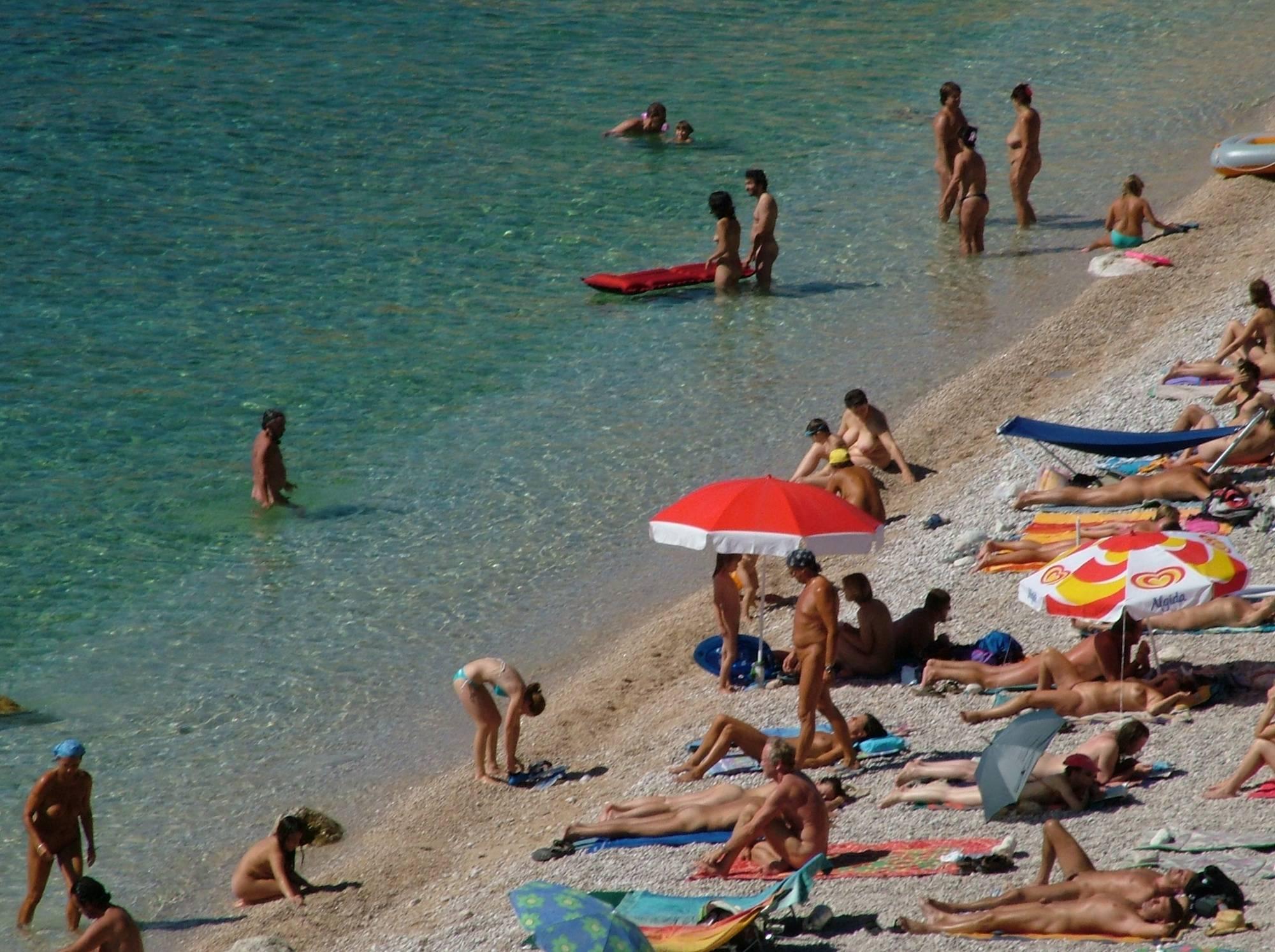 Nudist Pics FKK Naked Oasis Shoreline - 1