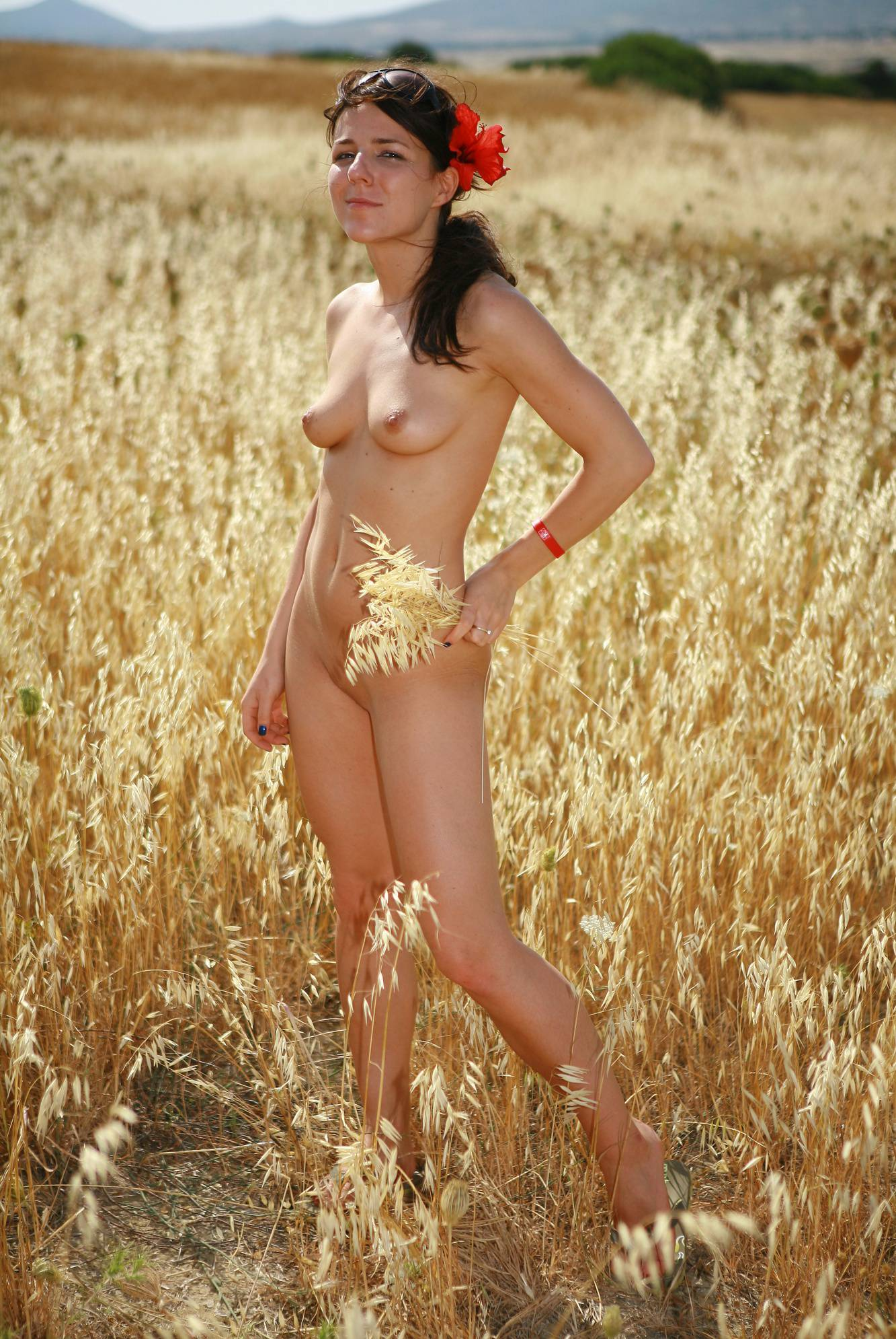 Nudist Photos Greek Barley Wheat Fields - 2