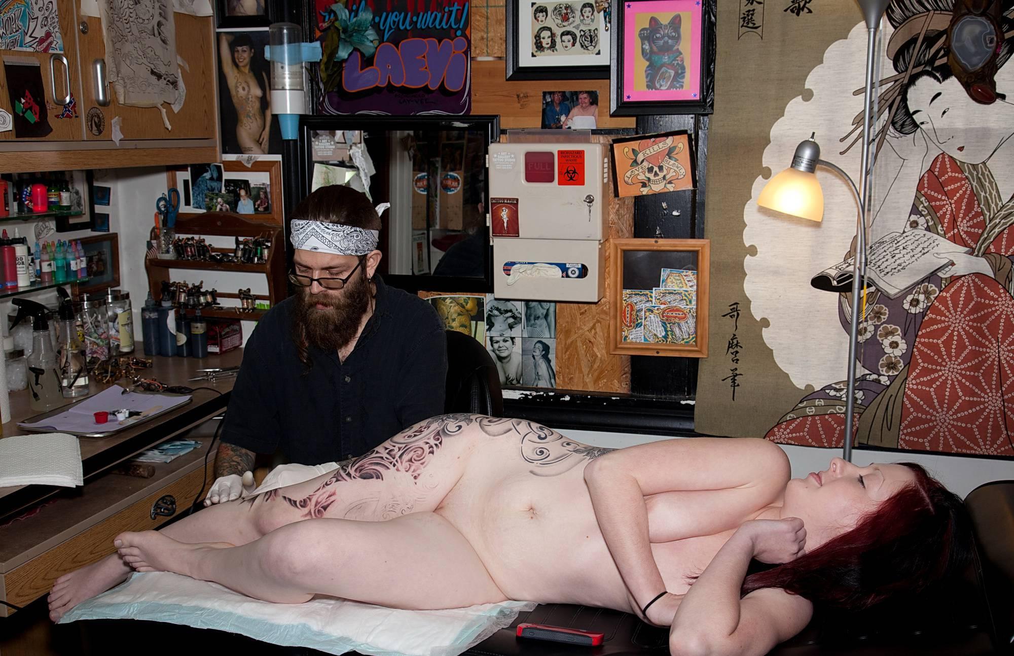 Isabella Getting A Tattoo - 2