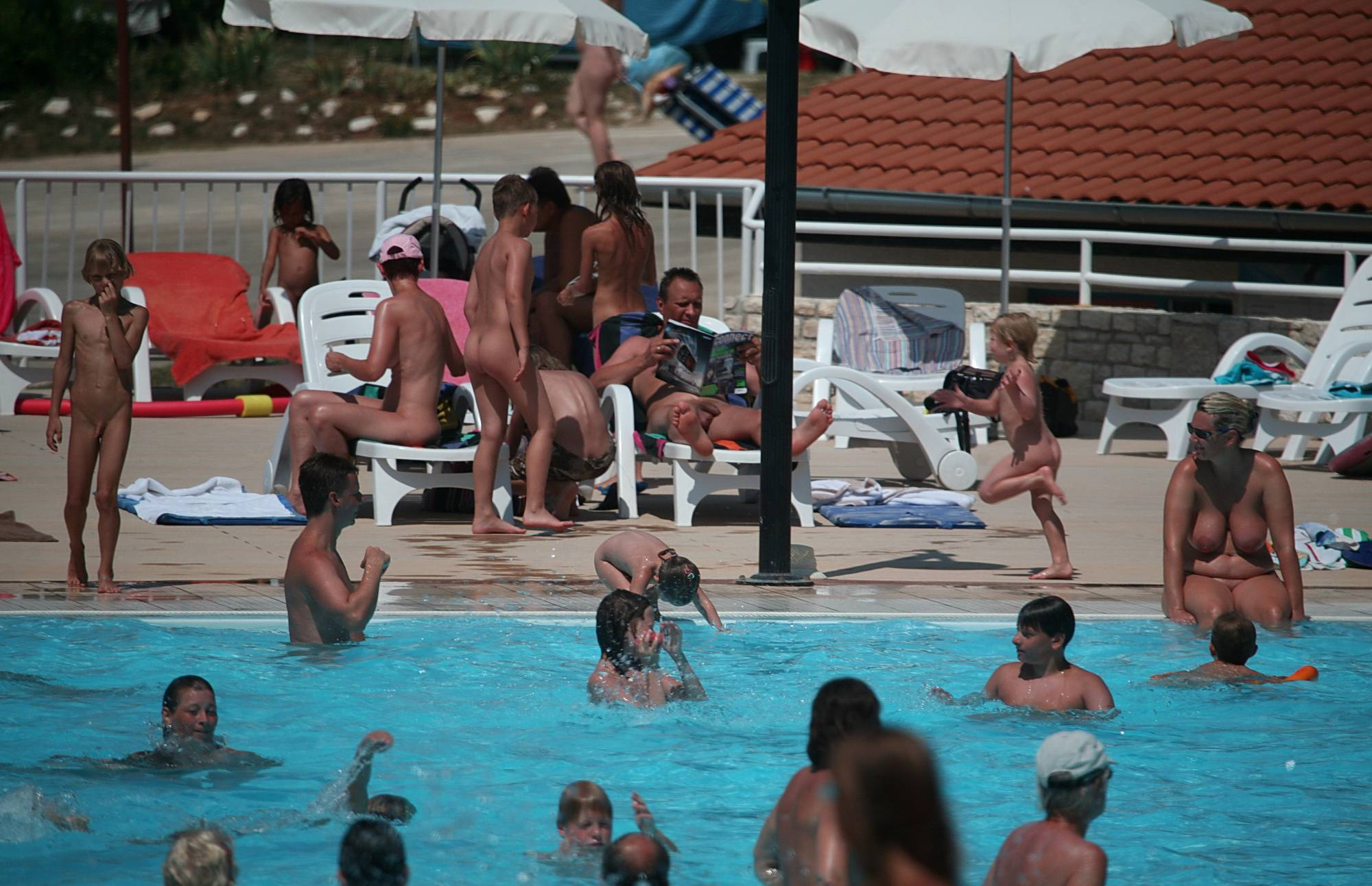 Nudist Gallery Large Pool Gatherings - 1