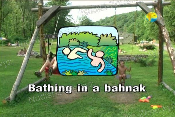 Bathing in a Bahnak video still