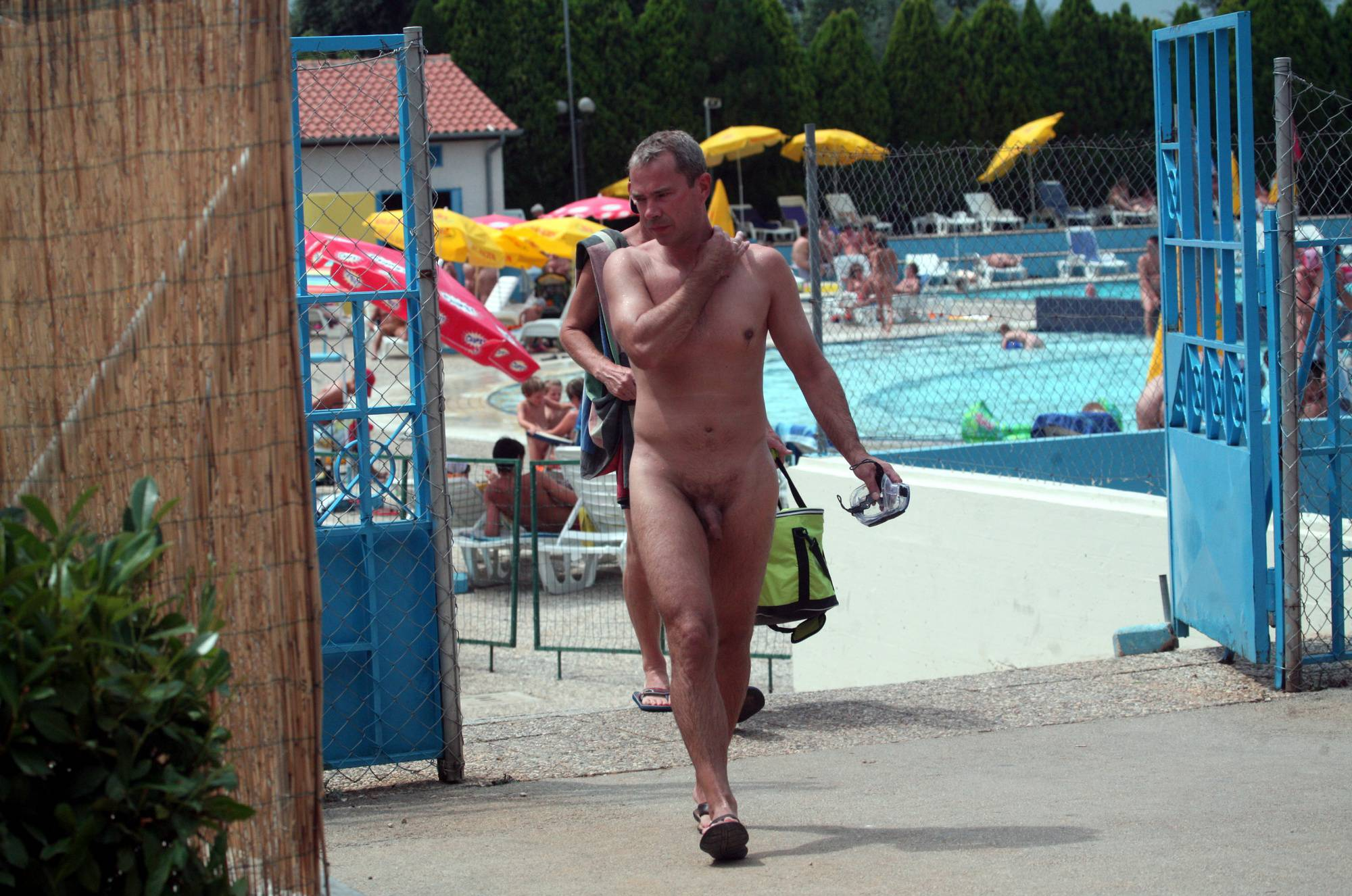 Nudist Pictures Naturist Pool Resort Exits - 1