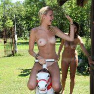 Nude Pony Ride Attraction