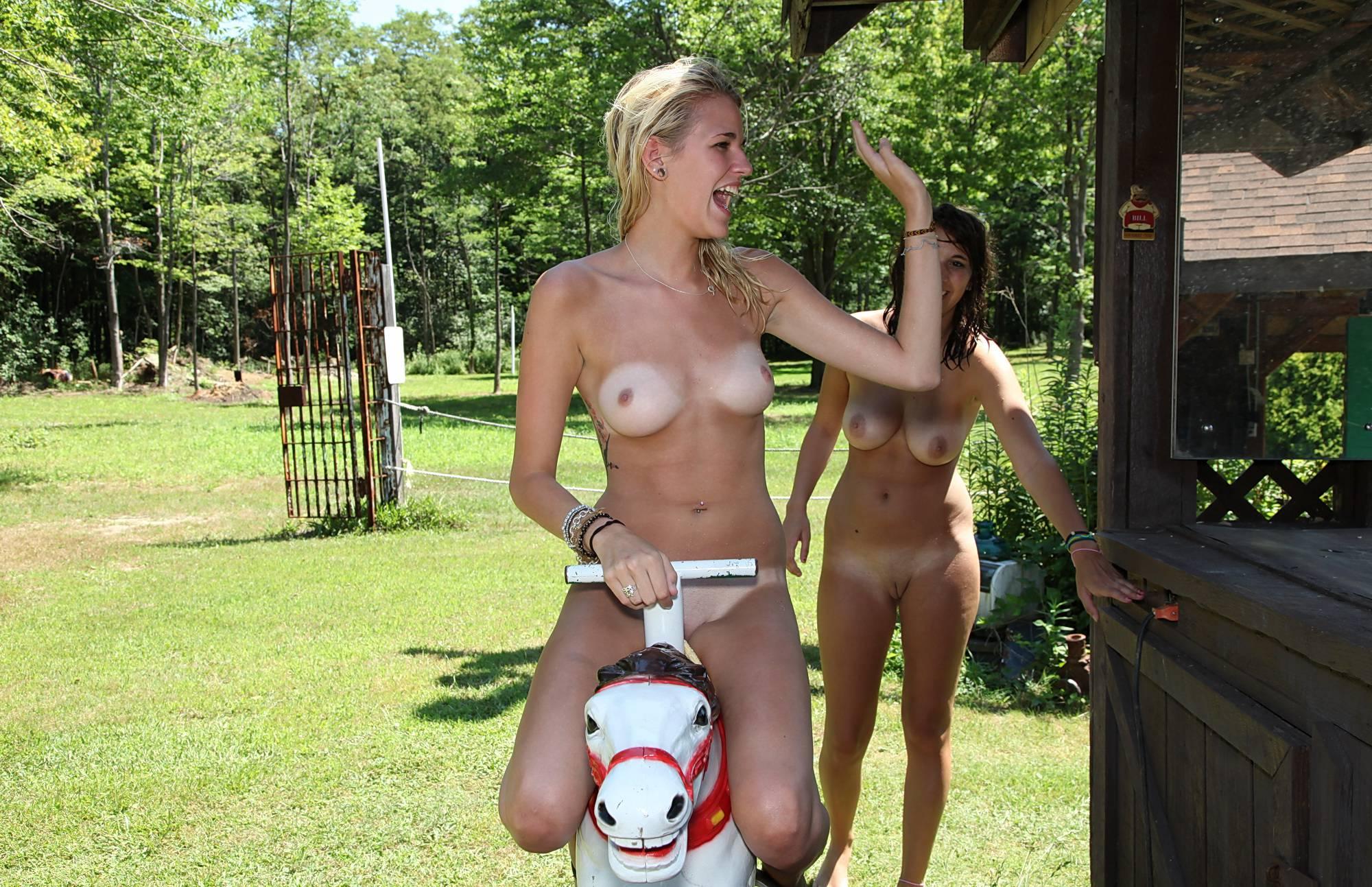 Nudist Photos Nude Pony Ride Attraction - 1