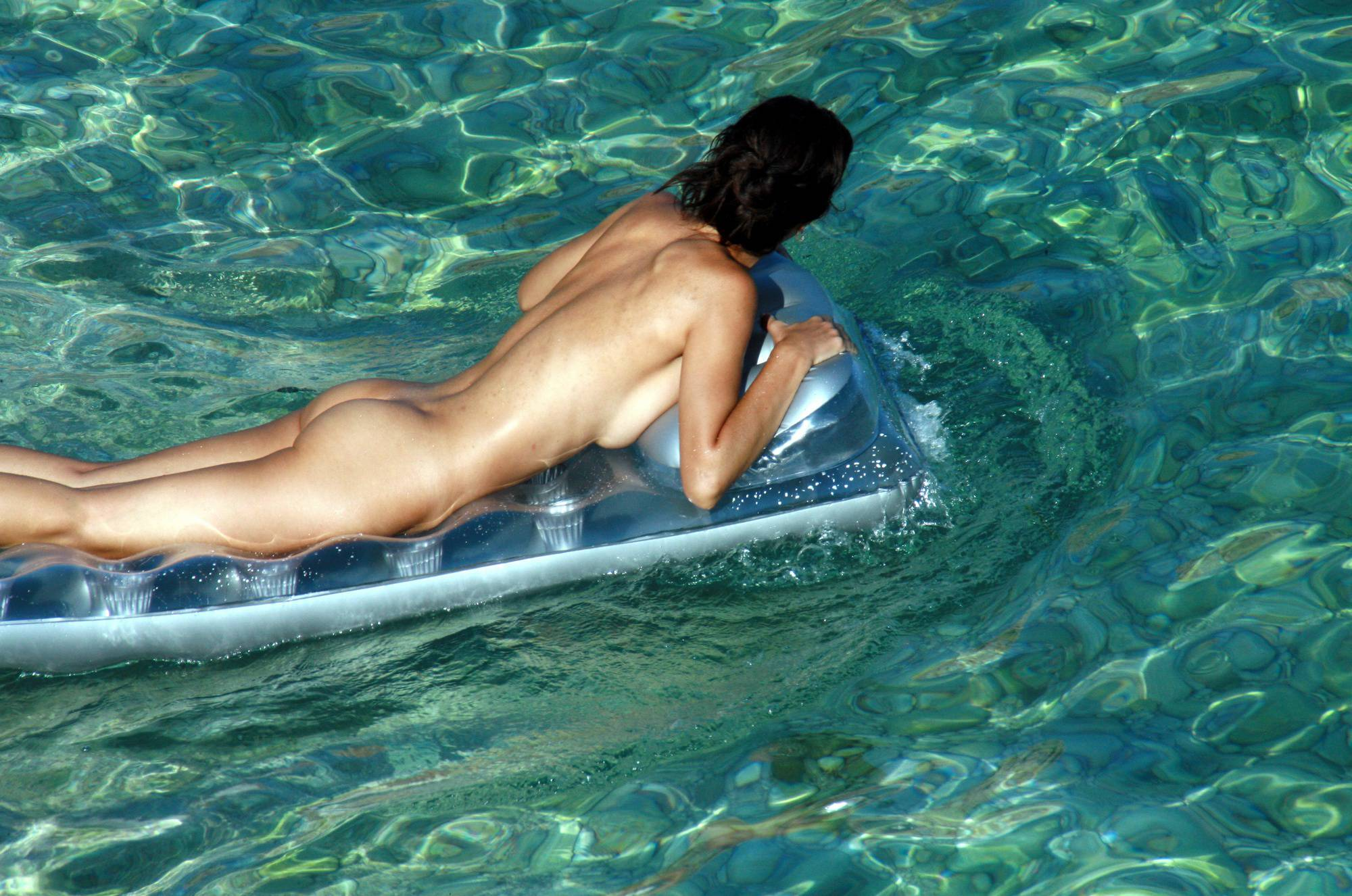 Nudist Couple Gray Floater - 2