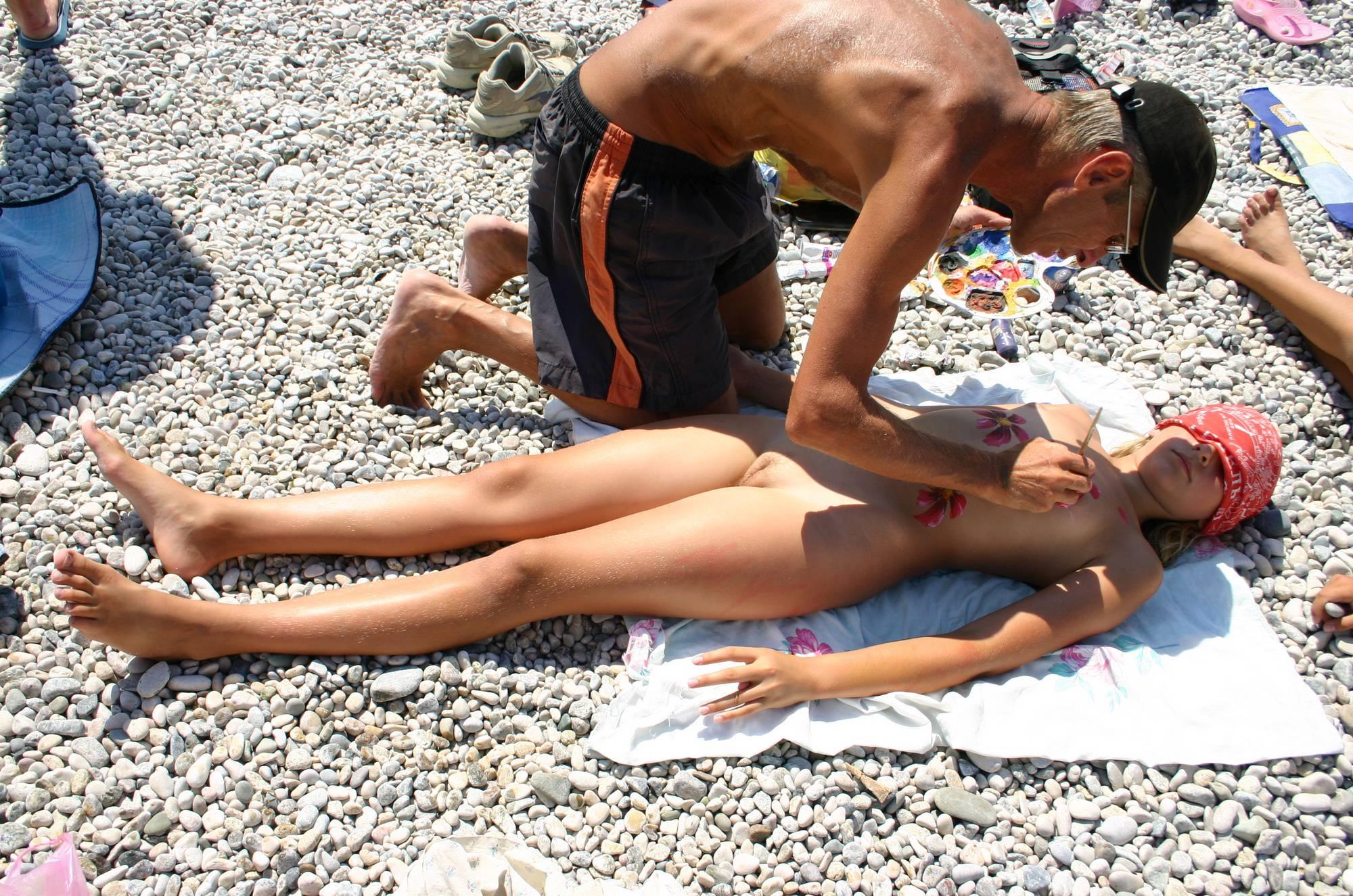 Nude Body Painting Prep - 2
