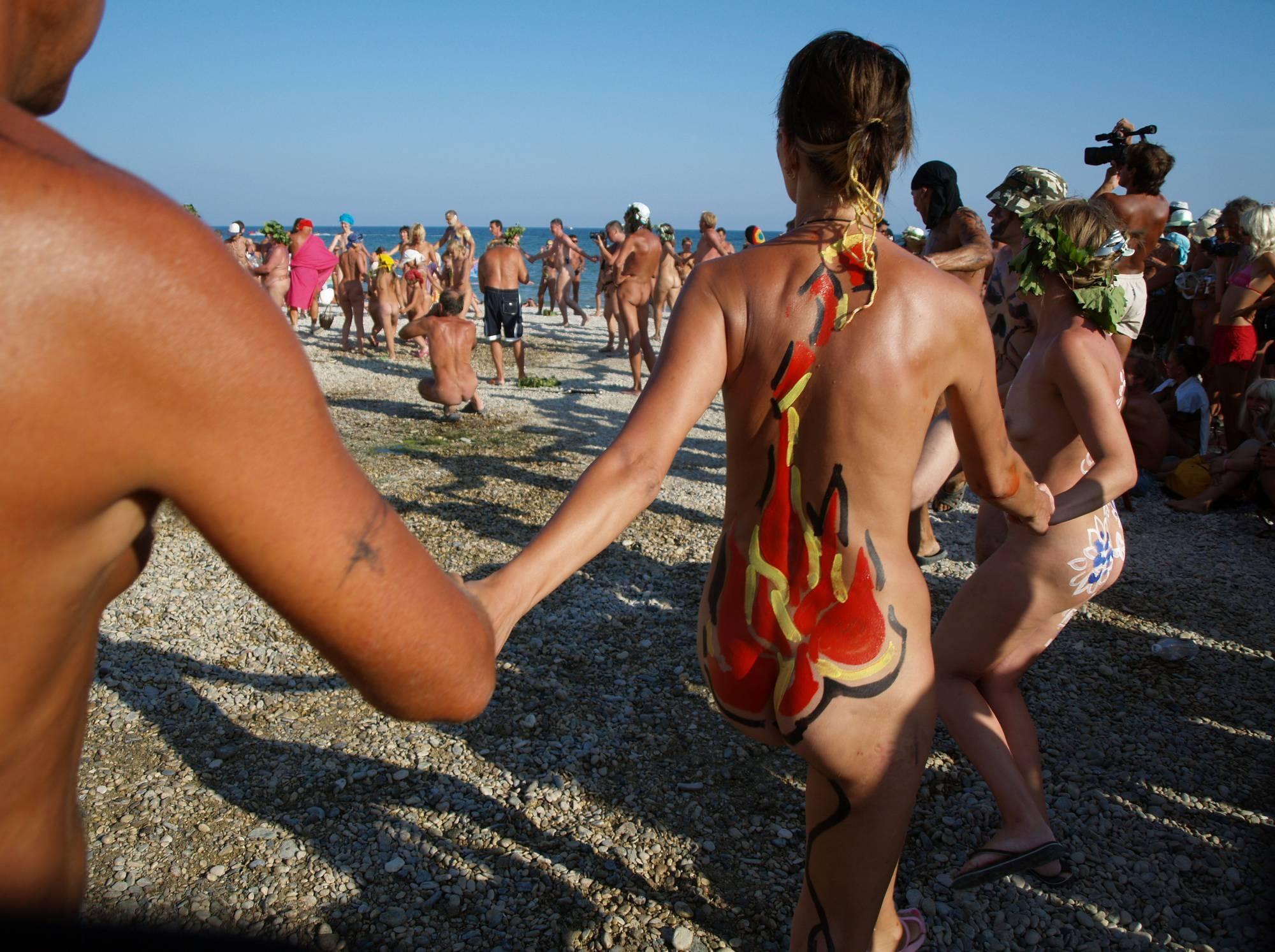 Nudist Go-Around Dancing - 1