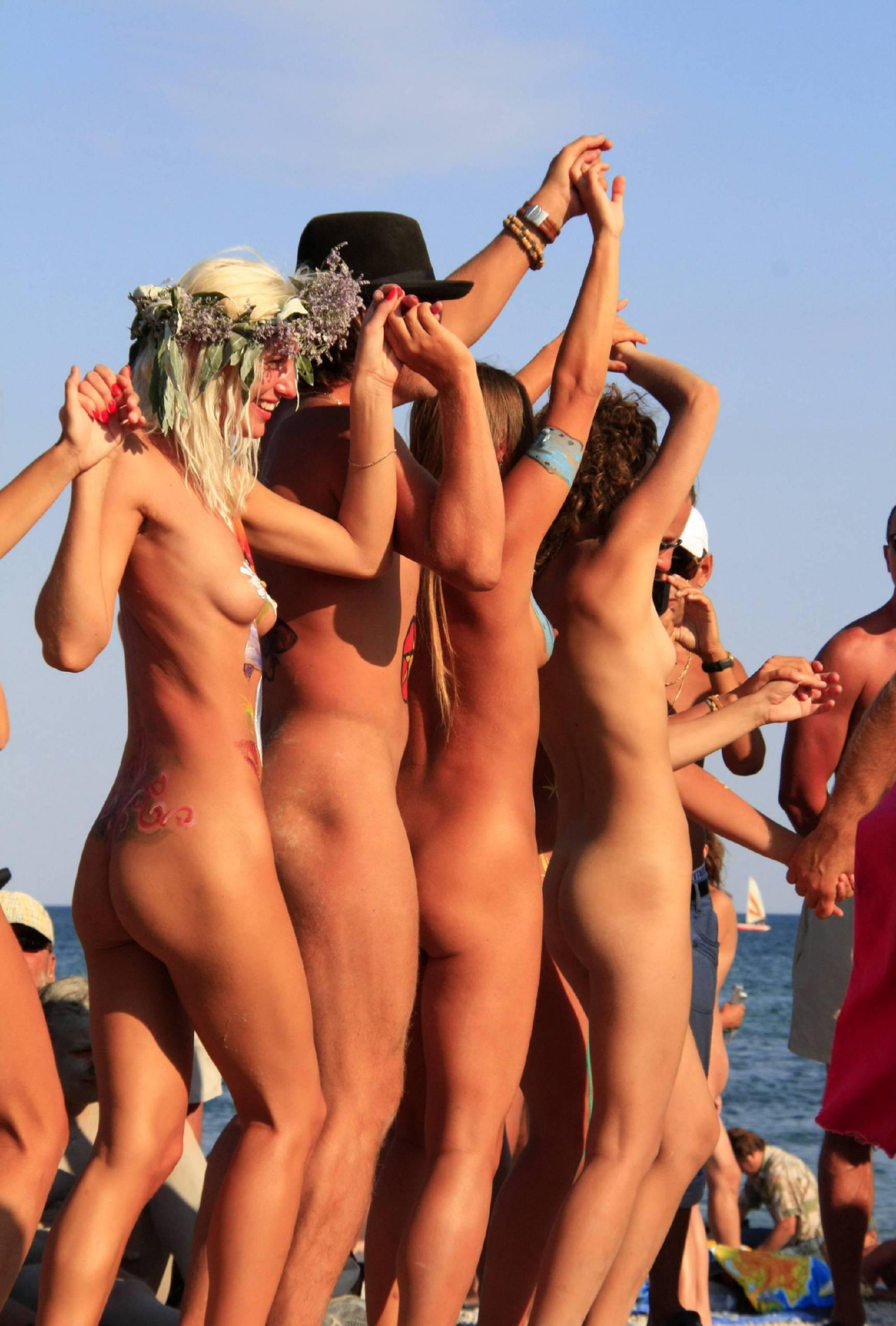 Nudist Photos Blue Sky Beach Dance Off - 1
