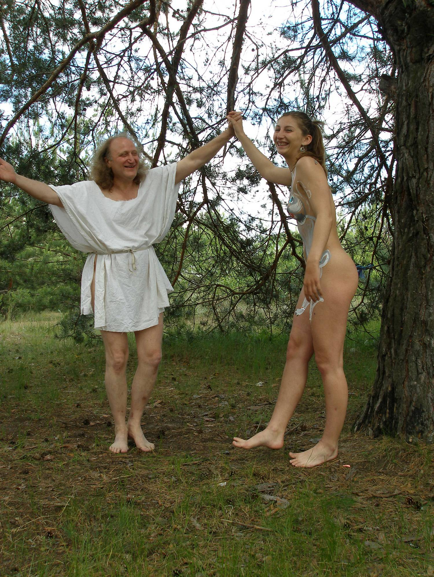 Nudist Pictures Kiev White Robe Goddess - 2