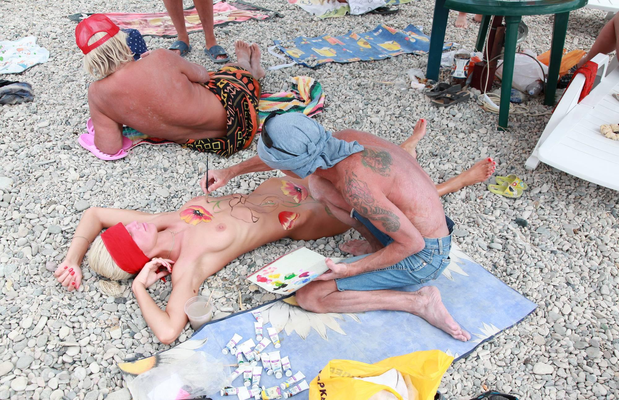 Nudist Gallery Neptune Ground Paintings - 2