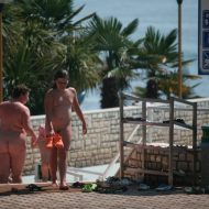 Pool Outskirt Nude Guests