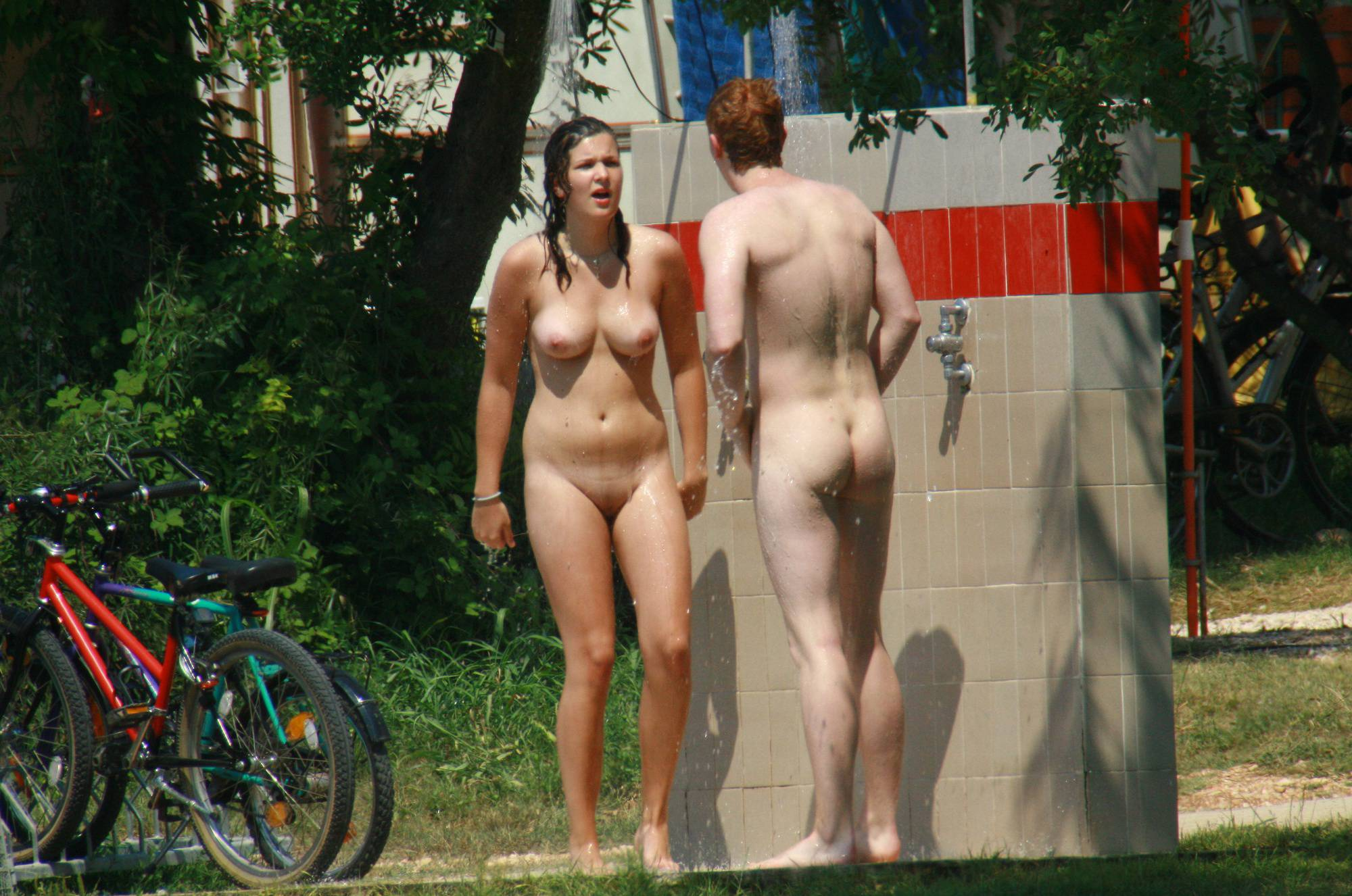 Nudist Pics Red-Headed Nudist Couple - 1
