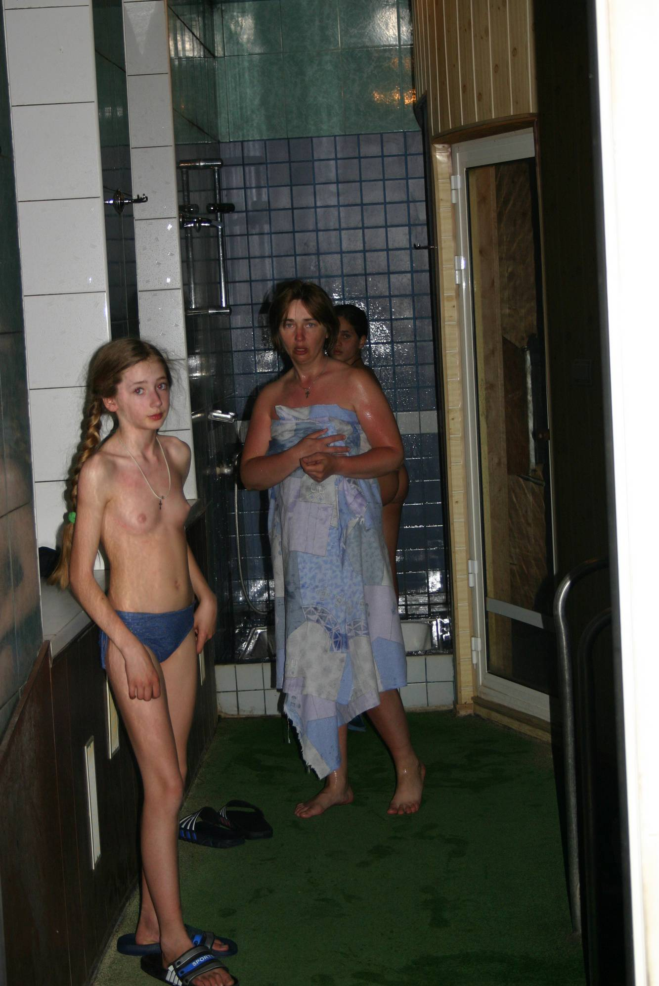 Family Naturist Pool Water - 2