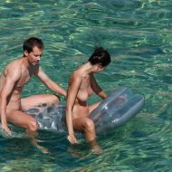 Naturists Rafting Along