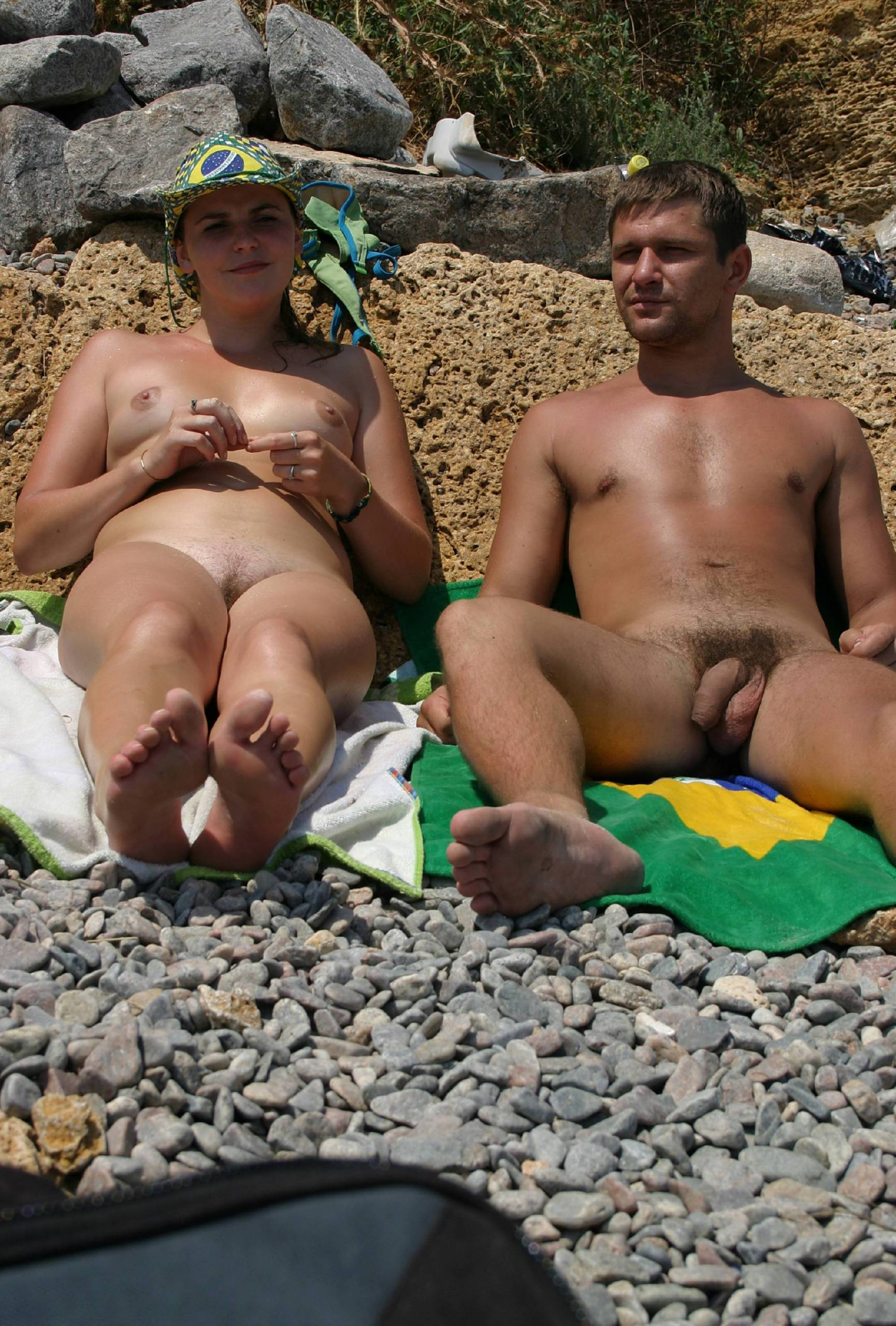 Nudist Shore and Mountains - 1