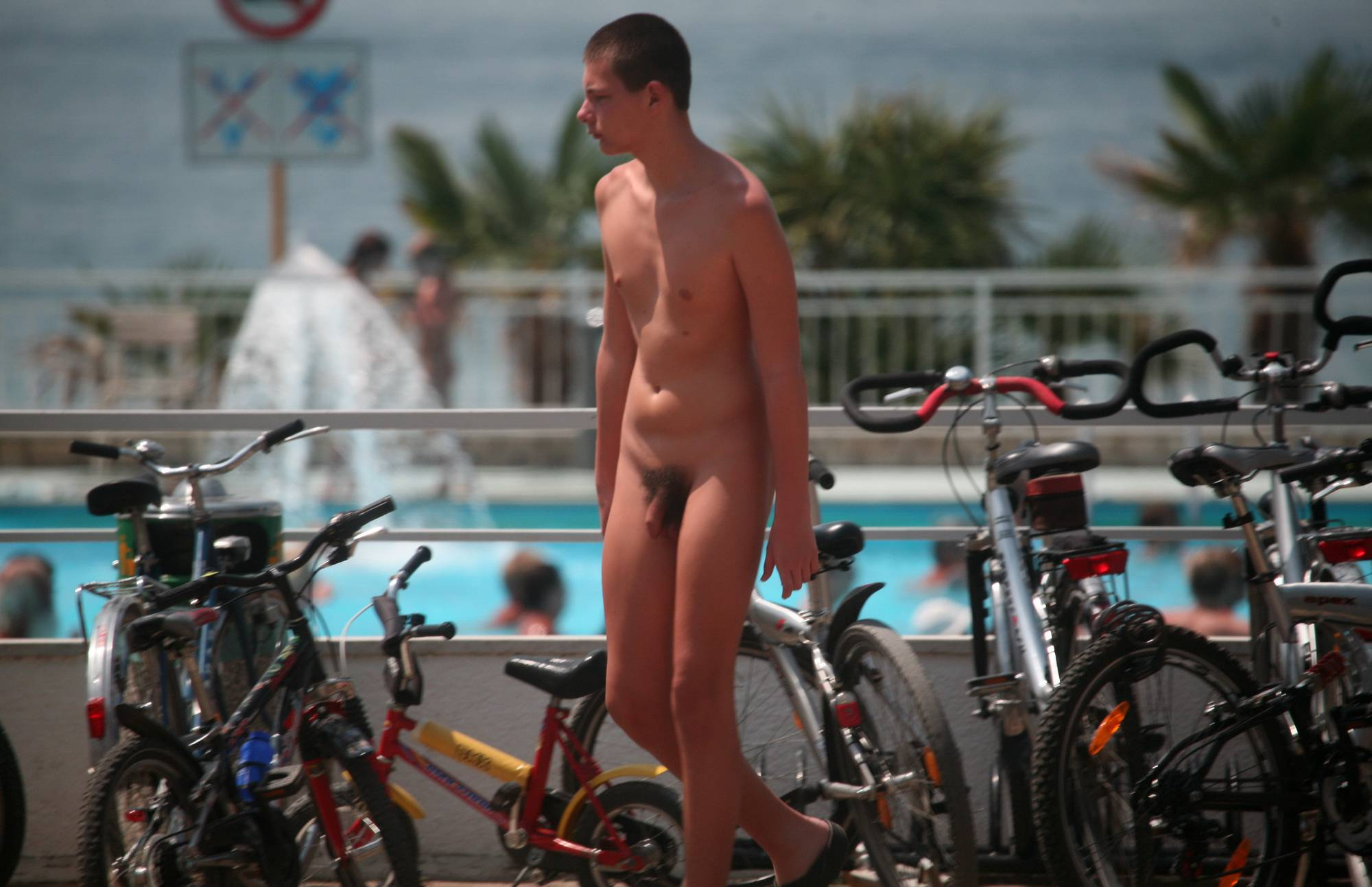 Nudist Pictures Outdoor Nude Bike Rack - 2