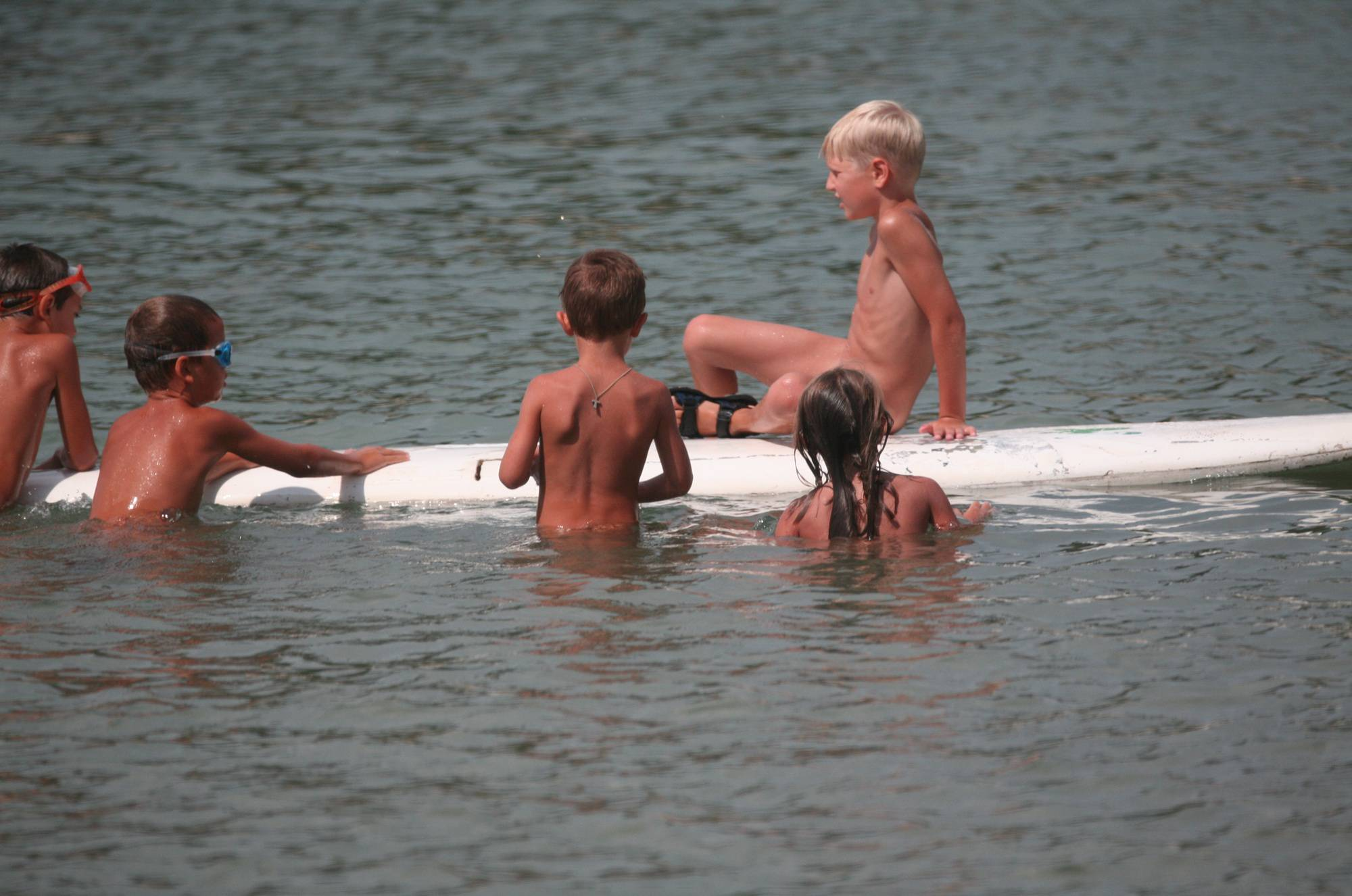 Several Kids On Surfboard - 1