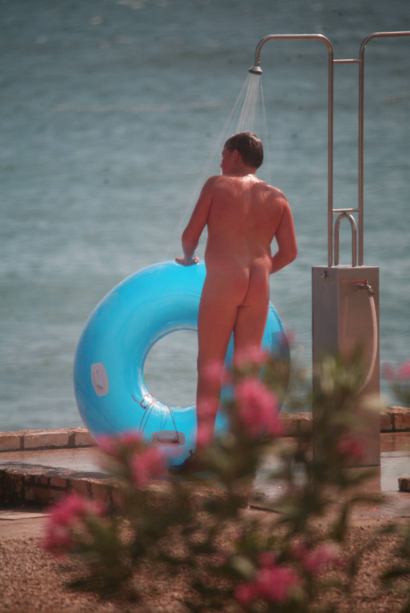 Nudist Pics Outside Shower Walk-Out - 1