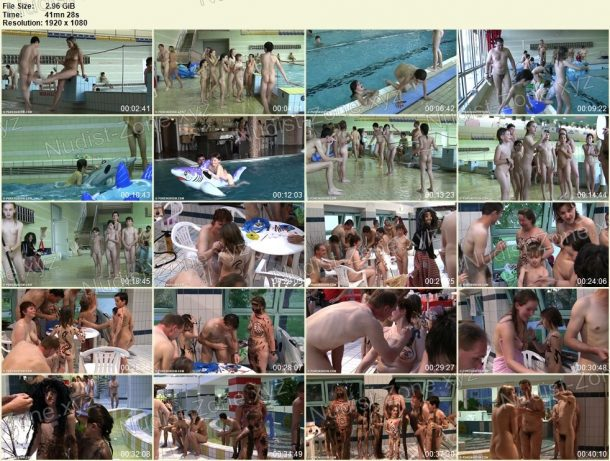 Shots of Naturist Pool and Games 1