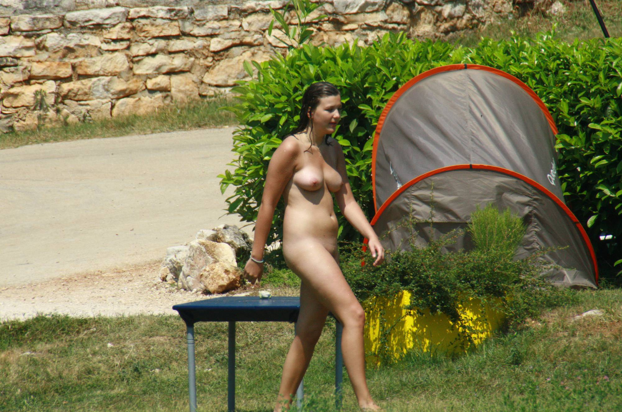 Red-Headed Nudist Couple - 2