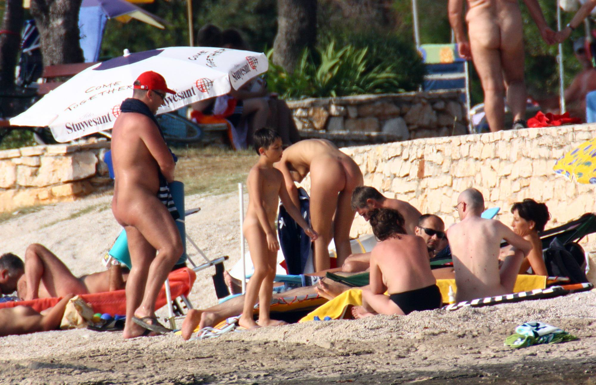 Nudist Photos Sandy Lake Relaxation - 2