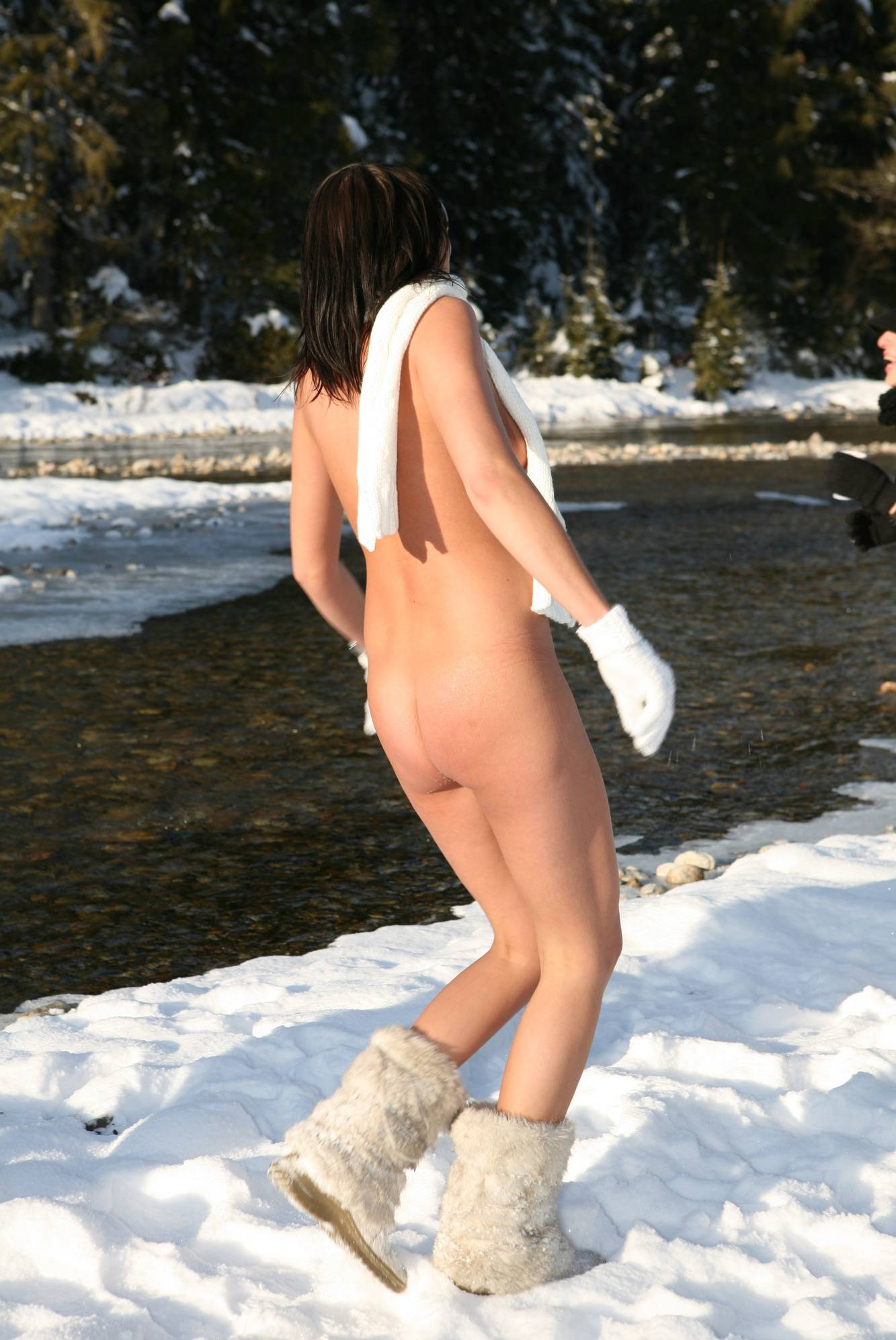 Nudist Gallery Snow Day Girl Snow Hike - 1