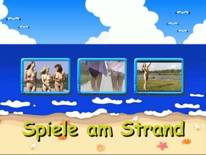 Naturist Videos Spiele am Strand - Poster