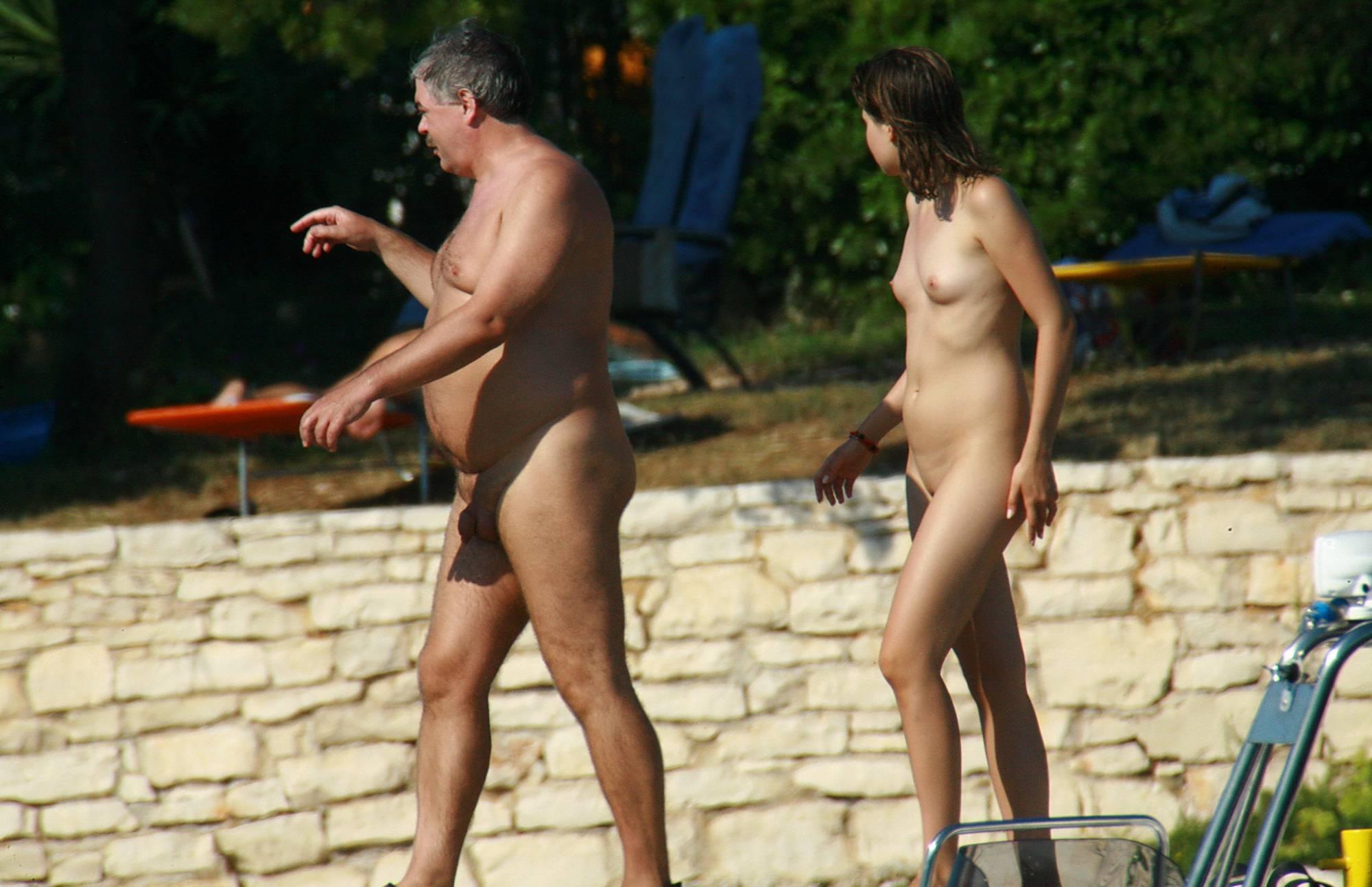 Nudist Photos Strolling On The Veranda - 2