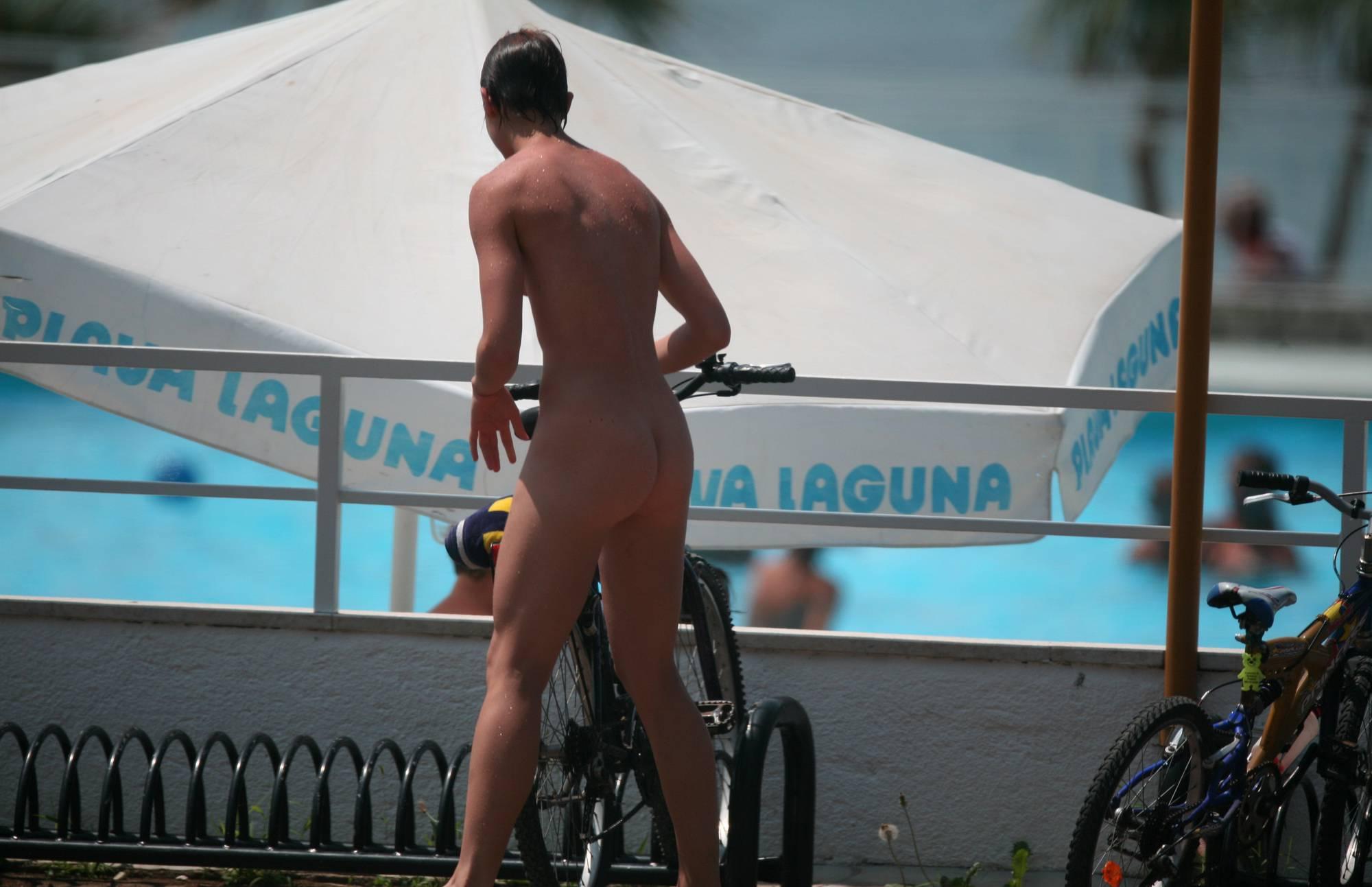 Teenage Nudist Biking Off - 1