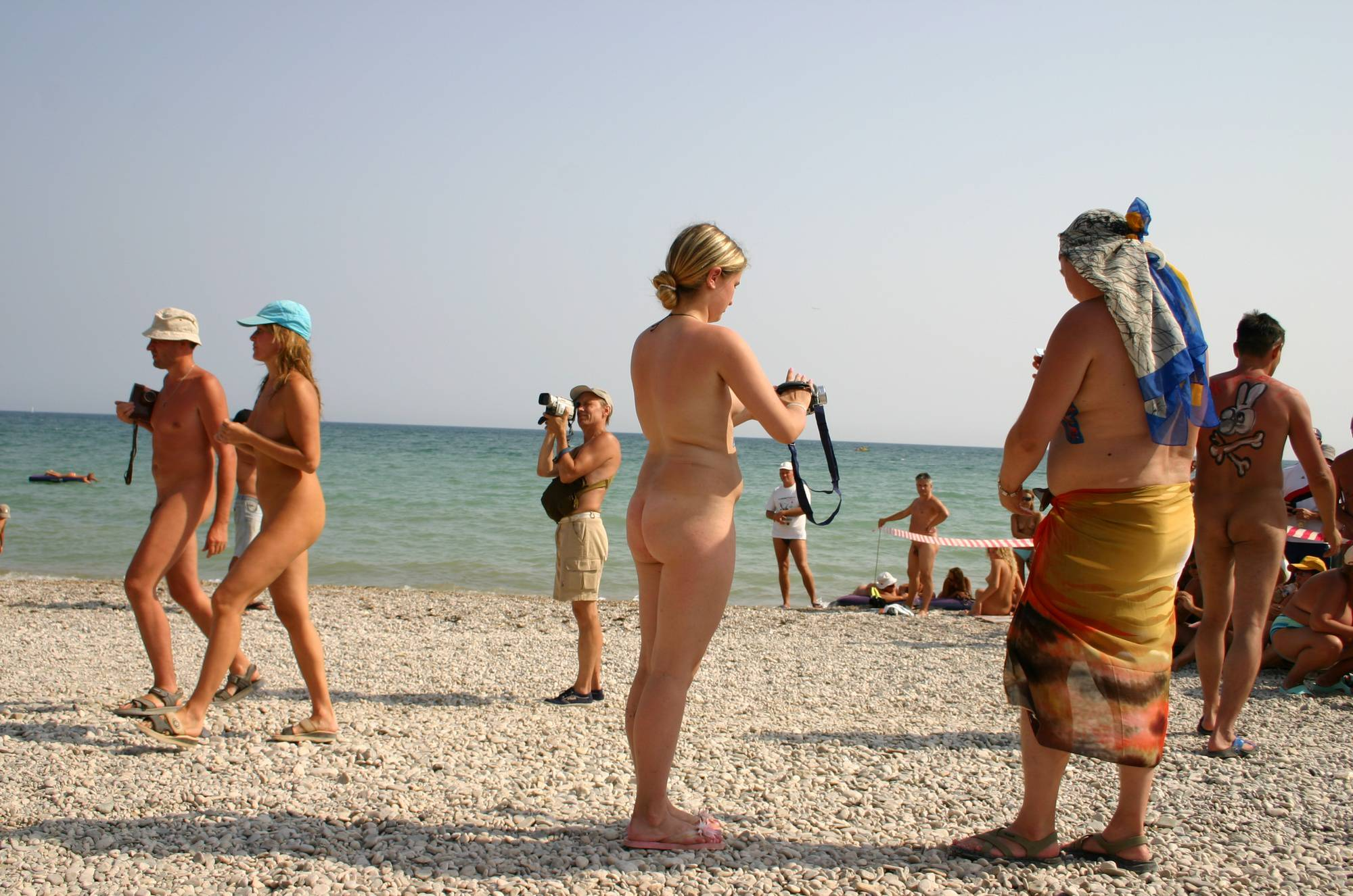 Nudist Photos Three Bodypaint Starlets - 1