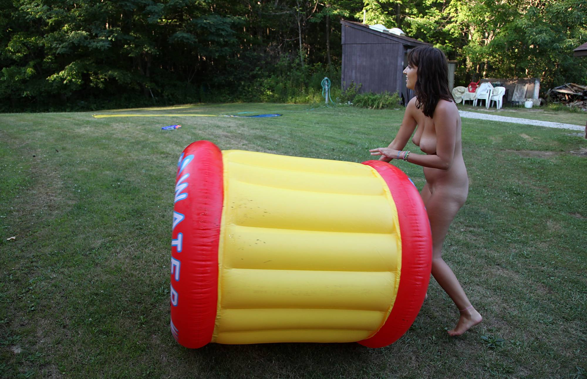 Nudist Photos Water Wheel Grass Roll - 1