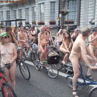 World Naked Bike Ride (WNBR) UK 2009